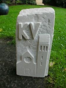 hier hab ich eine Skulptur für den Kirchenvorstand der St. Marienkirche gebaut