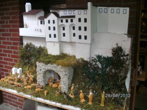 mein neues Modell der   Greccio-Krippe 2012