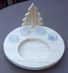 Adventsteller  28 cm aus Fichtenholz